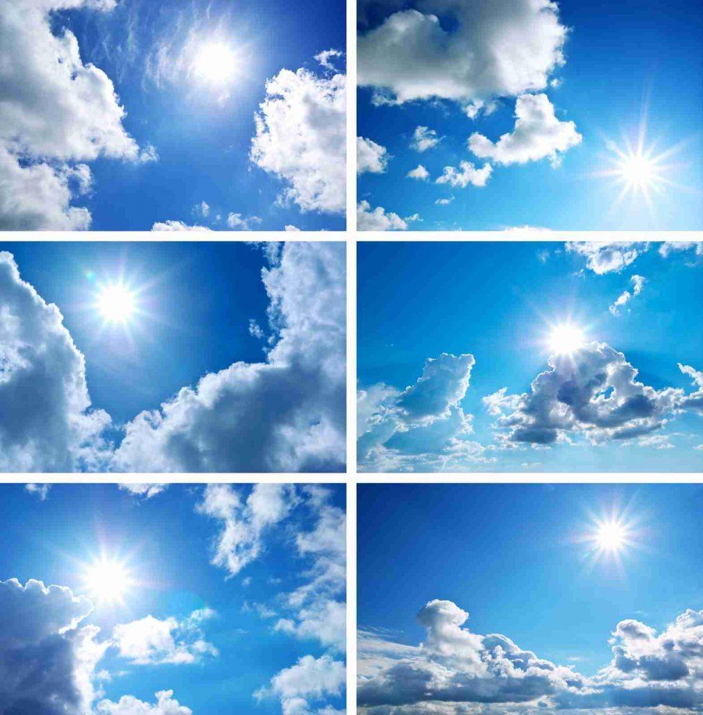 تصاویر اسمان ابی و ابری