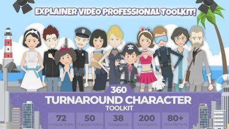 پک ابزار ساخت موشن گرافیک ۳۶۰ Character Toolkit