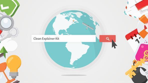 دانلود پروژه موشن گرافیک Clean Explainer Kit