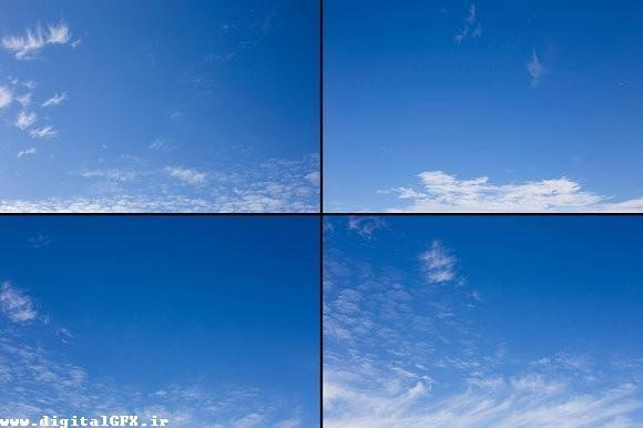 بک گراند اسمان ابی و ابری با کیفیت بالا