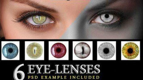 دانلود تصاویر لایه باز لنز چشم (PNG)