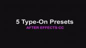 پریست نمایش تایپ متن بصورت انیمیشن برای افتر افکت