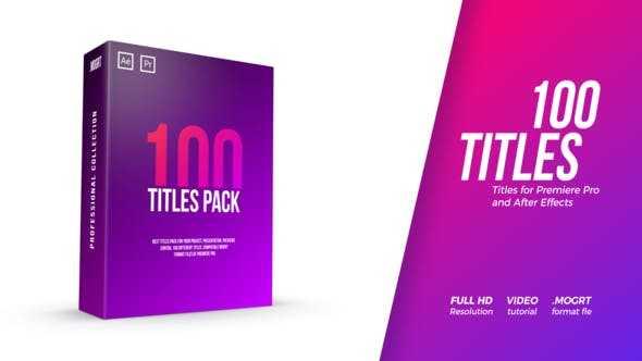 دانلود رایگان تایتل پریمیر ۱۰۰ Titles Pack