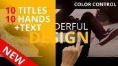دانلود رایگان پروژه اماده افتر افکت : تایتل Titles & Hands+Text