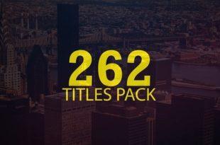 دانلود پروژه تایتل افتر افکت  Title Pack Animation