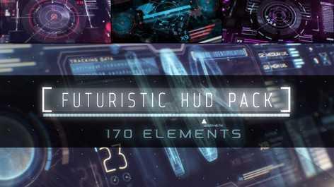 دانلود عناصر اماده اینفوگرافیک HUD
