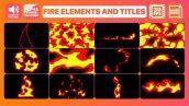 دانلود المان های موشن گرافیک پریمیر - المان اتش Fire Elements