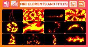 دانلود المان های موشن گرافیک پریمیر – المان اتش Fire Elements
