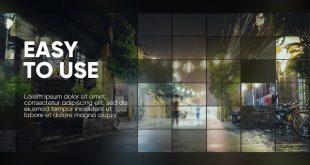 اسلاید شو نمایش تصاویر سبک موزاییک برای پریمیر