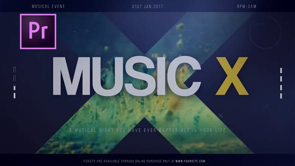 دانلود پروژه اماده پریمیر Music X