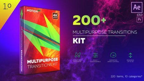 دانلود جعبه ترنزیشن چند منظوره برای افتر افکت multipurpose transitions kit