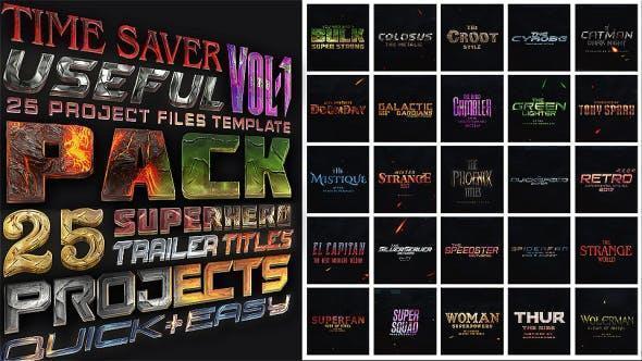 پروژه اماده ساخت تیزر و تریلر سوپر قهرمانان هالیوود Avengers SuperHeroes Pack