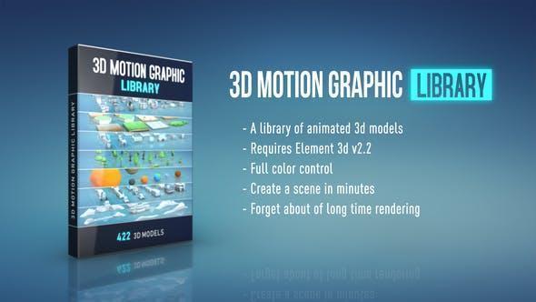 موشن گرافیک سه بعدی ۳D Motion Graphic Library