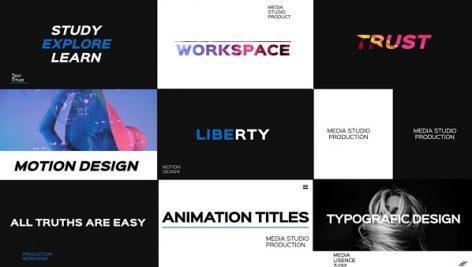 دانلود پک تاپیوگرافی پریمیر Typography Pack