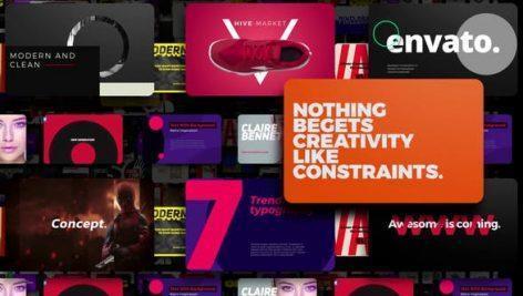 پروژه اماده افتر افکت تاپیوگرافی برند Brand Typography
