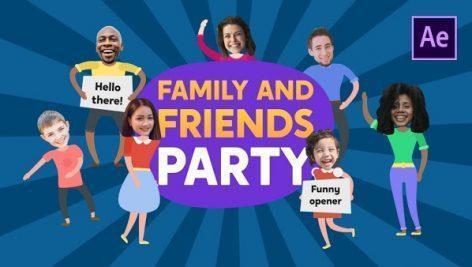 دانلود پروژه افتر افکت مهمانی خانواده و دوستان Family & Friends Party