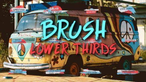 مجموعه موشن گرافیک زیرنویس قلم مو برای پریمیر Brush Lower Thirds