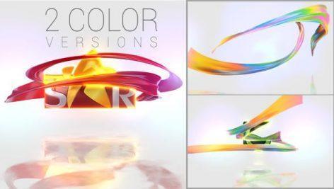 دانلود پروژه اماده افتر افکت نمایش لوگو با ربان Ribbon logo