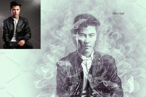 دانلود اکشن فتوشاپ دود Smoke Photoshop Action