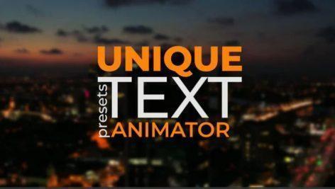 پریست افترافکت انیمیشن کردن متن Text Animator