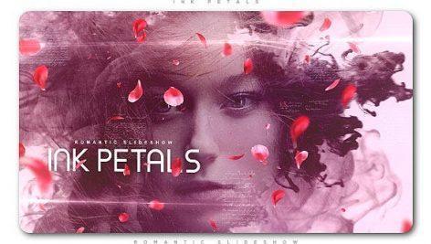 اسلایدشو افترافکت : گلبرگ و جوهر Ink Petals Romantic