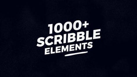 دانلود پروژه اماده افتر افکت:1000 عنصر خط خطی Scribble Elements