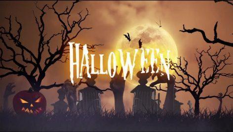 دانلود فوتیج هالووین Halloween Background Animation