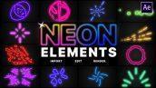 پروژه اماده افتر افکت مجموعه المان نئون Neon Elements