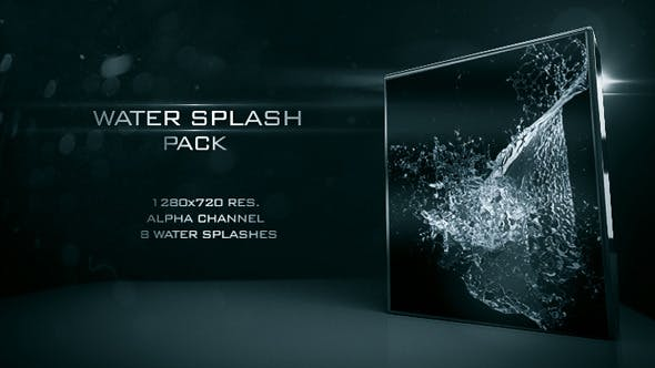 فوتیج پاشیدن اب (زمینه شفاف) Water splash 02