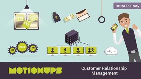 پروژه موشن گرافیک بازاریابی خدمات ارتباط با مشتری