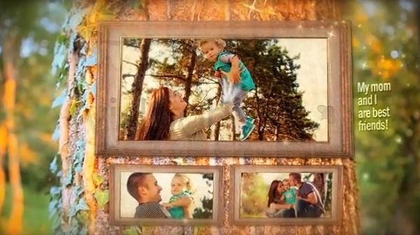پروژه گالری عکس خانواده برای افتر افکت