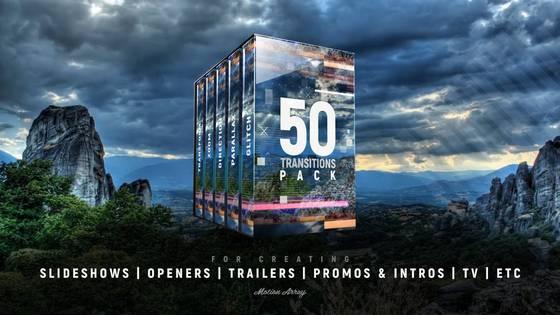 دانلود رایگان ترنزیشن پریمیر : ۵۰ Transition Pack- Premiere Pro Templates