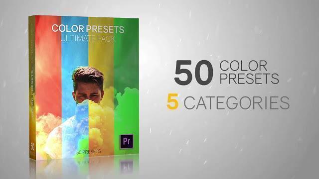 دانلود رایگان پریست پریمیر : 50 پریست تنظیم رنگ