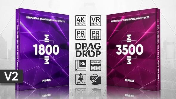مجموعه 5000 ترنزیشن پریمیر transitions effects presets