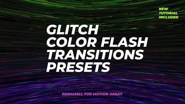 دانلود پریست ترنزیشن پریمیر Glitch Color Flash