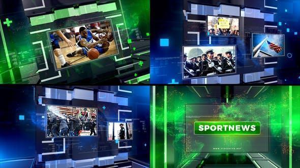 پروژه اماده افتر افکت پخش اخبار News Broadcast
