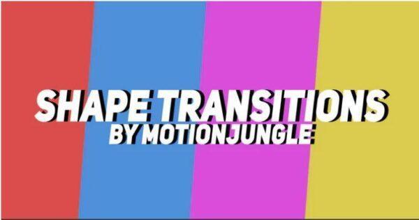 پریست ترنزیشن اشکال برای پریمیر Shape Transitions preset premiere