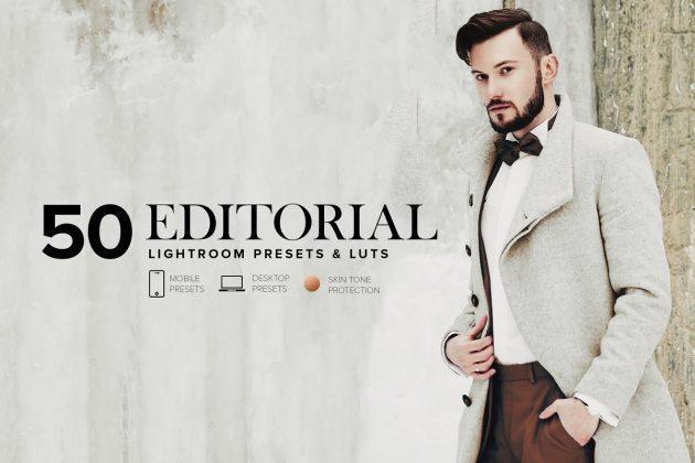 1 - دانلود 50 پریست لایت روم  Editorial Lightroom