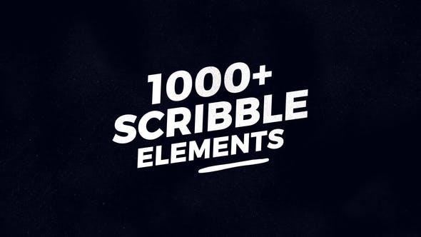 پروژه اماده افتر افکت:1000 عنصر خط خطی