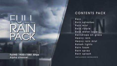 Full Rain Pack dgfx 472x267 - دانلود پک حرفه ای فوتیج بارش باران و تگرگ بر روی زمین ، شیشه ....