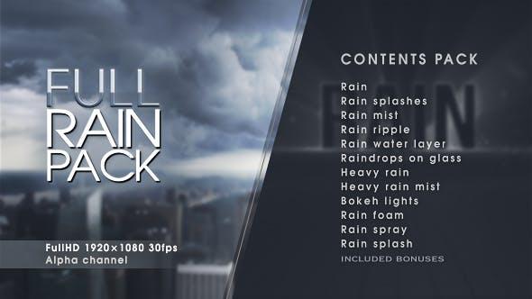 فوتیج بارش باران و تگرگ