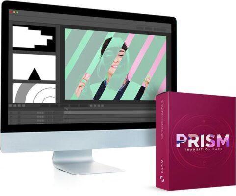 مجموعه ترنزیشن ویدیویی منشور شیشه ای برای تمامی نرم افزار های تدوین
