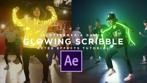How to make Glowing Dance scribble animation in After Effects digitalGFX.ir