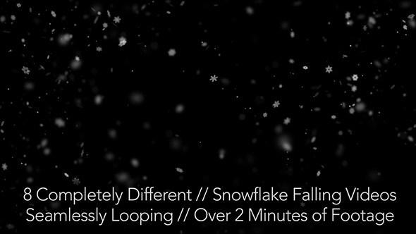 فوتیج موشن گرافیک سقوط دانه های برف Snow Falling