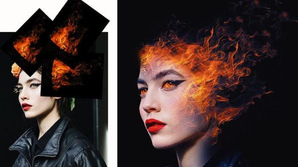 burning face