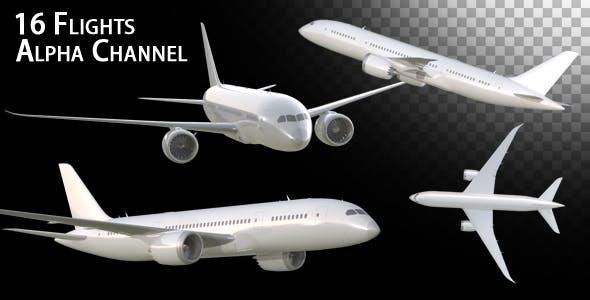 دانلود فوتیج موشن گرافیک هواپیما Airplane Pack Deluxe
