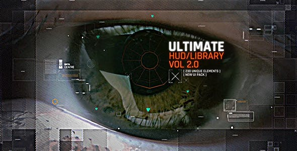 فوتیج نمایشگر فضایی HUD -Cyber Space Screens