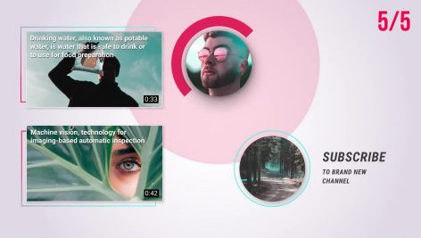 پروژه اماده افترافکت صفحه پایان ویدیوهای یوتیوب YouTube End Screens 2