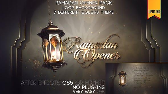 پروژه اماده استارت افترافکت رمضان Ramadan Opener Pack