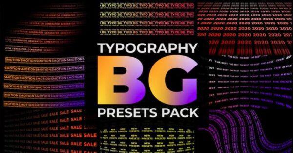 دانلود پریست پریمیر ساخت بک گراند متحرک با متن BG Presets